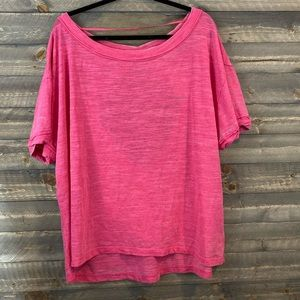 We the free- free people magenta open back tee